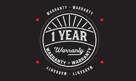 1 year warranty design vintage,best stamp collection. 1 year warranty design,best black stamp illustration vector illustration