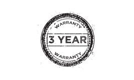 3 year warranty icon. 3 year Warranty black stamp icon vector illustration