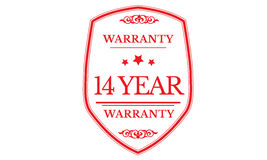 14 year warranty icon. 14 year Warranty black stamp icon vector illustration
