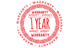 1 year warranty icon. 1 year Warranty black stamp icon stock illustration