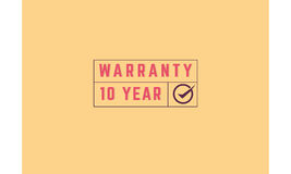 10 year warranty. Icon grunge vintage retro rubber stamp royalty free illustration