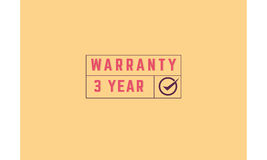 3 year warranty. Icon grunge vintage retro rubber stamp vector illustration