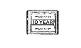 10 year warranty Stock Photography