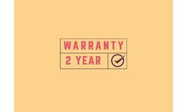 2 year warranty. Icon grunge vintage retro rubber stamp Stock Image