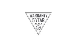 5 year warranty. Icon grunge vintage retro rubber stamp Royalty Free Stock Image