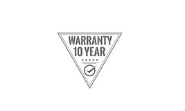 10 year warranty. Icon grunge vintage retro rubber stamp stock illustration