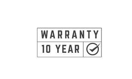 10 year warranty. Icon grunge vintage retro rubber stamp Stock Images