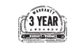 3 year warranty. Icon grunge vintage retro rubber stamp Royalty Free Stock Image
