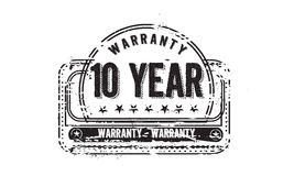10 year warranty. Icon grunge vintage retro rubber stamp Stock Photo