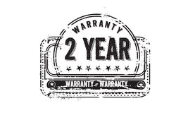 2 year warranty. Icon grunge vintage retro rubber stamp vector illustration