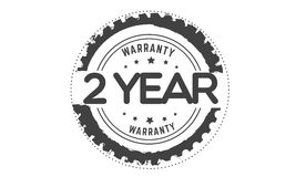 2 year warranty. Icon  retro stamp grunge vintage rubber Stock Photo