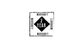 2 year warranty. Icon  retro stamp grunge vintage rubber Royalty Free Stock Photo