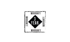 3 year warranty. Icon  retro stamp grunge vintage rubber Stock Photography