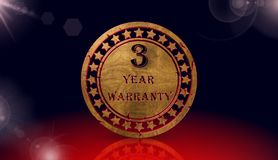 Year warranty icon,sing,3D illustration Stock Image