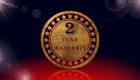 Year warranty icon,sing,3D illustration Royalty Free Stock Photos