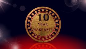Year warranty icon,sing,3D illustration Royalty Free Stock Images