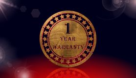Year warranty icon,sing,3D illustration Stock Images