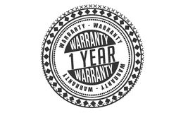 1 year Warranty icon. Stamp vector illustration