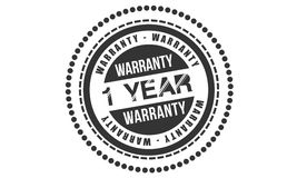 1 year Warranty icon. Vector black stamp vector illustration