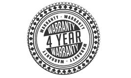 4 year Warranty icon. Vector black stamp vector illustration