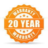 20 year warranty icon. Vector illustration stock illustration
