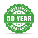 50 year warranty icon. Vector illustration stock illustration