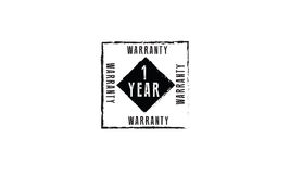 1 year warranty. Icon vector retro stamp grunge vintage rubber Royalty Free Stock Image