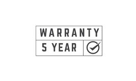 5 year warranty. Icon vector retro stamp grunge vintage rubber Royalty Free Stock Photography