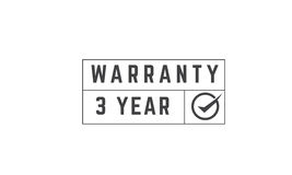 3 year warranty. Icon vector retro stamp grunge vintage rubber Stock Photo