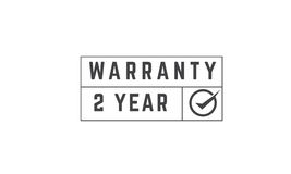 2 year warranty. Icon vector retro stamp grunge vintage rubber Royalty Free Stock Image