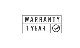 1 year warranty. Icon vector retro stamp grunge vintage rubber Royalty Free Stock Photos