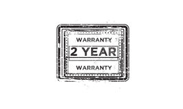 2 year warranty icon. Vintage rubber stamp stock illustration