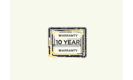 10 year warranty icon. Vintage rubber stamp royalty free illustration