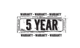 5 year warranty icon Royalty Free Stock Images