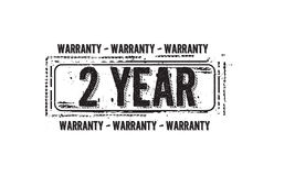 2 year warranty icon. Vintage rubber stamp royalty free illustration