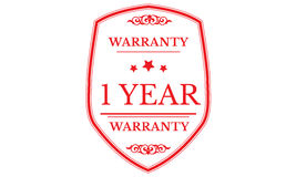 1 year warranty icon Stock Photos