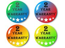Year warranty,illustration. Year warranty,best year warranty illustration Stock Photos