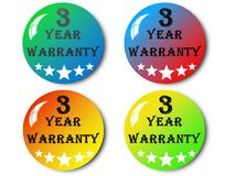 Year warranty,illustration. Year warranty,best year warranty illustration Stock Images