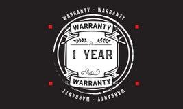 1 year warranty illustration design stamp badge icon. 1 year warranty illustration design stamp badge illustration icon royalty free illustration