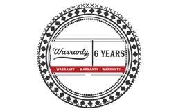 6 year warranty illustration design stamp badge icon. 6 year warranty illustration design stamp badge illustration icon vector illustration
