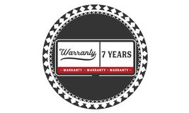 7 year warranty illustration design stamp badge icon. 7 year warranty illustration design stamp badge illustration icon stock illustration