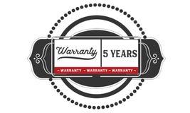 5 year warranty illustration design stamp badge icon. 5 year warranty illustration design stamp badge illustration icon royalty free illustration