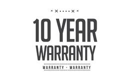 10 year warranty illustration design. Stamp badge icon vector illustration