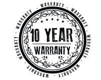 10 year warranty illustration grunge design. 10 year warranty illustration design stamp badge icon royalty free illustration