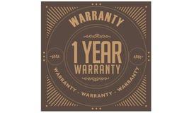 1 year warranty illustration design stamp. Badge icon quote illustration stock illustration
