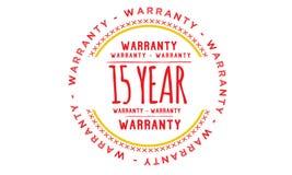 15 year warranty illustration design. Stamp badge icon royalty free illustration