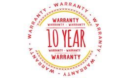 10 year warranty illustration design. Stamp badge icon royalty free illustration