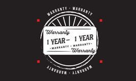 1 year warranty illustration design stamp badge icon. 1 year warranty illustration design stamp badge illustration icon stock illustration