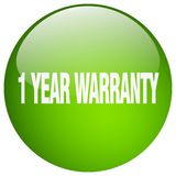 1 year warranty button. 1 year warranty round button isolated on white background.  1 year warranty Stock Illustration