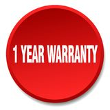 1 year warranty button. 1 year warranty round button isolated on white background. 1 year warranty vector illustration